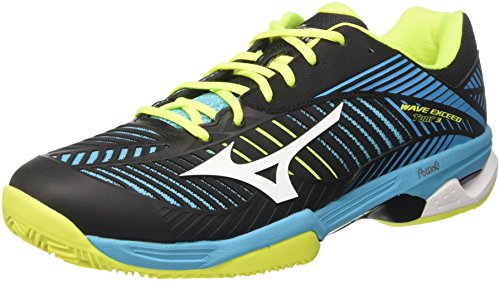 Mizuno Wave Exceed Tour CC, Scarpe da Tennis Uomo, Multicolore (Blueatoll/White/Black), 42 EU