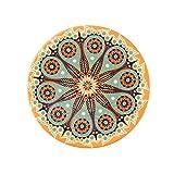 Cup Mats Mats für Tisch rutschfeste Bohemian-Stil Amazon Hot Sale rutschfester saugfähig Kork Boden Keramik Untersetzer Orange