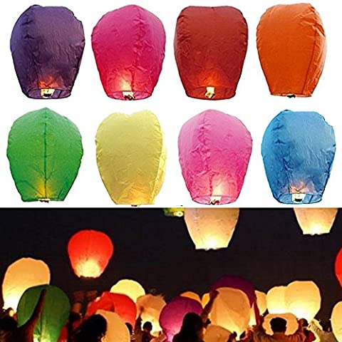 Goodlucky365 22 PZ Colorate Lanterne Di Carta Cinese lanterne del Cielo Lampada della Auguri Per la Festa Nuziale