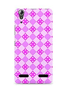 Amez designer printed 3d premium high quality back case cover for Lenovo A6000 (Pink Pattern2)