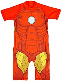 Boys Marvel Avengers IRONMAN All in One Sunsafe Swimsuit Surf Suit Costume sizes from 1.5 to 5 Years