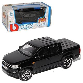 Bburago Volkwagen Amarok Pick-Up Schwarz Ab 2010 1/43 Modell Auto mit individiuellem Wunschkennzeichen
