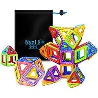 NextX Pädagogische Bausteine Sets, Magnetische Bausätze Spielzeug für 3 Jahre Alte Jungen und Mädchen Weihnacht Geschenk