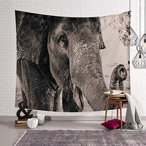 XHcloth Camera da Letto con arazzo Elephant Group Tapestry 3D Visual Nature Art Arazzo Appeso a Parete Arredamento Camera da Letto Dormitorio Decorazione Soggiorno (Colore : B, Dimensioni : 200x150)