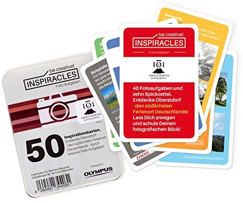 Inspiracles Foto Aufgaben, Oberstdorf Edition - Fotografieren und Entdecken mit 46 Aufgabenkarten & 10 Spickzetteln