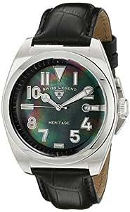Swiss Legend - SL-20434-01MOP - Heritage - Montre Homme - Quartz Analogique - Cadran Nacre - Bracelet Cuir Noir