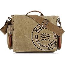 KIPTOP®-Bolso de mano de lona de estilo retro para hombre/mujer Tamaño: 36X 26 X 13cm