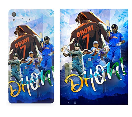 MOTIVATE BOX| 1 Phone Cover and 1 Poster combo| Sony Xperia XA1 back cover and 12*18 inches rolled wall poster of M.S Dhoni collage design Poster and phone cover combo (frames are not included) Color S3CP564