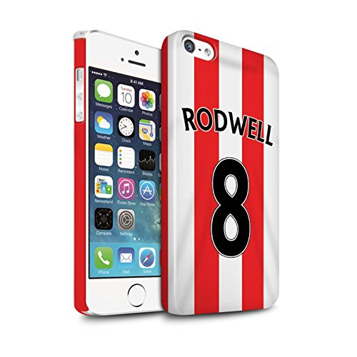 Offiziell Sunderland AFC Hülle / Glanz Snap-On Case für Apple iPhone 5/5S / Pack 24pcs Muster / SAFC Trikot Home 15/16 Kollektion Rodwell