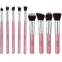Abody 9Pcs/Set de Brochas cosméticas,de manija madera,color rosa