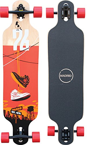 "Madrid Trance 39\"" Drop-Thru Shoes Longboard, One Size"