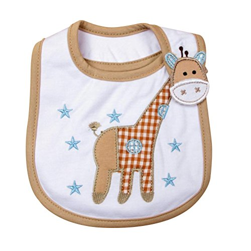 TOYMYTOY Baby Bandana Lätzchen Cartoon Sabbern Zahnen Lätzchen Neugeborene Fütterung Speichel Handtuch (Giraffe)