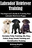 Labrador Retriever Training: The Beginner's Guide to Training Your Labrador Retriever Puppy; Includes Potty Training, Sit, Stay, Fetch, Drop, Leash Training and Socialization Training