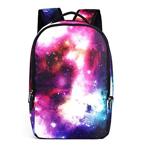 DoGeek Zaino Scuola 3D Stampa Zainetti Zaini Bambini Borse a spalla Sacchetto di Scuola unisex multicolore nylon galassia Zaini per Ragazza Ragazzo Rosso