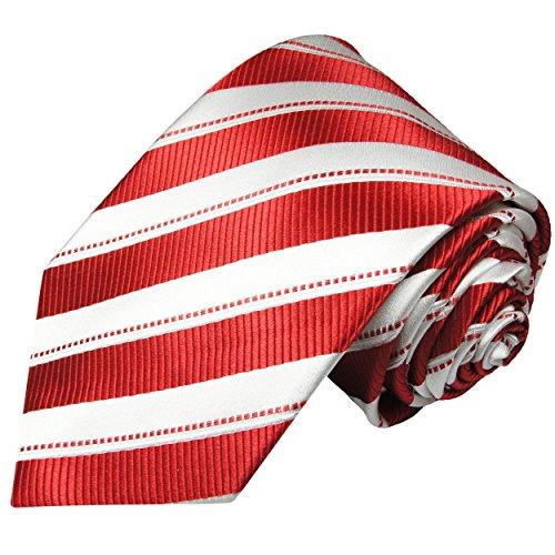 Cravate homme rouge rayé 100% cravate en soie ( longueur 165cm )