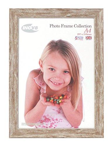 Inov8 PFES-SWWA-A4 Traditionell Briten Foto und Bilderrahmen, A4 Zertifikat, wasch klein walnuss - Kleiner Chrome-rahmen