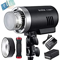 Godox AD300Pro Outdoor Flash, 300w 2.4G TTL Flash Strobe Speedlite, 1/8000 HSS, 320 Full Power Pop, 5600±100K Stable Color, 12W Modeling Lamp, 0.01-1.5s Recycle Time(AD300Pro)