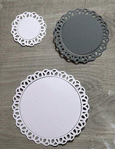 Simplelettering Stanzschablone/Cutting Dies Kreis Rahmen mit Bögen & Innenkreis