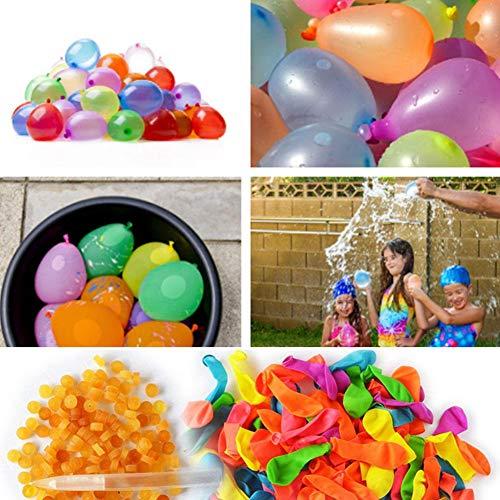 Wasserballons 1000 Stück Selbstschliessend Luftballons Wasserballons Kampfspiele Für Kinder Erwachsene Wasserbomben Schnellfüller Mit 1000 Gummiband,5 Werkzeugrohr,3 Düse Füllen Bunte Ballon