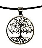 Artedecor Joyeros Gargantilla con Colgante árbol de la Vida en Plata de Ley