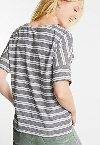 ... CECIL Damen Oversize Shirt mit Streifen graphit light grey (grau) ...