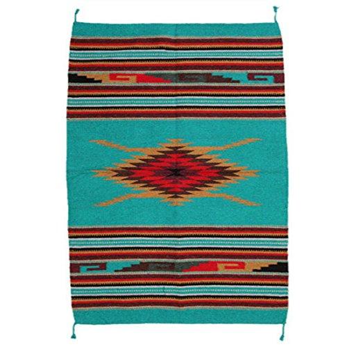 Teppich / Läufer im Stil der Navajo-Indianer - Southwest Ranch, groß, Style VI (Mexikanischer Teppich)