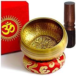 Cuenco Tibetano 7 Metales 12cm Diseño Antiguo Original Hecho a Mano en Nepal Himalaya Excelente Sonido