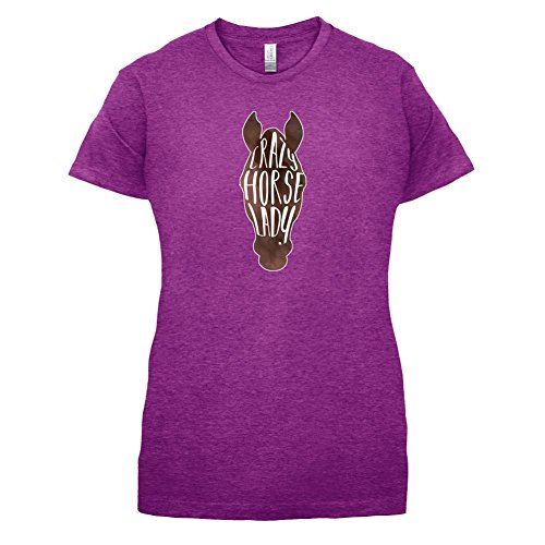 Crazy Horse T-shirt (Verrückte Pferde Dame - Crazy Horse Lady - Damen T-Shirt - Beere - M)