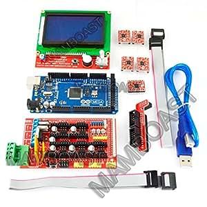 Mega2560 LCD 12864 Contrôleur A4988 RAMPE 1.4 Kits l'imprimante 3D RepRap