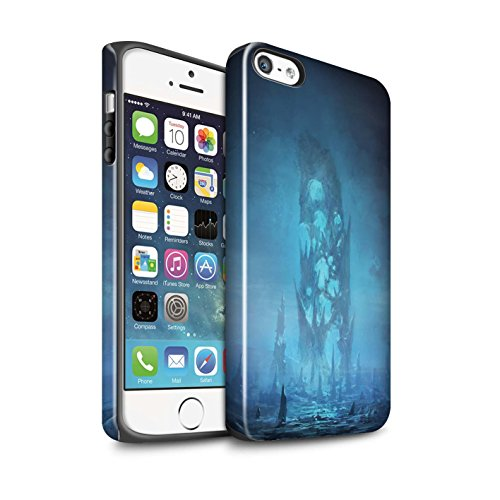 Offiziell Chris Cold Hülle / Glanz Harten Stoßfest Case für Apple iPhone SE / Pack 12pcs Muster / Fremden Welt Kosmos Kollektion Rest