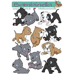 Bambinella© Stickerparade - 10 Sticker - Motiv: Hund Pit Bull Terrier - Pitbull- gefertigt in eigener Werkstatt in Neuhof/Deutschland