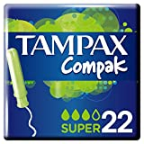 Tampax Compak - Tampons avec Applicateur en Plastique x 22 - Super - Lot de 3
