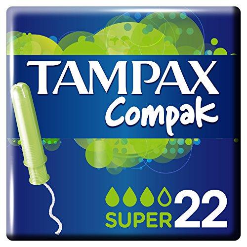 Tampax Tampon Compak Super 22 unidades Paquete 3