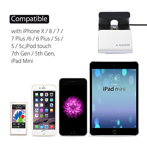 2149109905a ... iPhone con Cable Lightning Apple Mfi, Compatible con Fundas Gruesas,  Estación de Carga USB con Sincronización de Datos para iPhone x, 8, 7, 6s, 6  plus ...