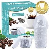 CAPMESSO Einweg-Kaffeefilter mit Deckel Ersatz-Papierfilter für wiederverwendbare Single Serve K Serie Tassen Pods Keurig Kaffeemaschine weiß