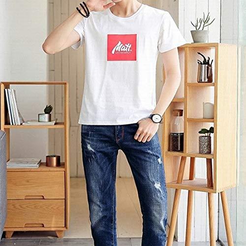 Hemotrade Camiseta Blanca Manga Corta Hombre Camiseta