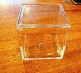 Cubetto portaconfetti 8x8x8 plexiglass scatola bomboniera confettata 1 pz