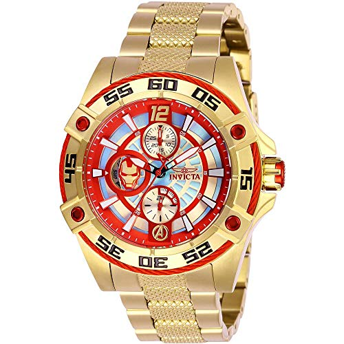 Invicta Women's Marvel Gold-Tone Steel Bracelet & Case Quartz Watch 27022