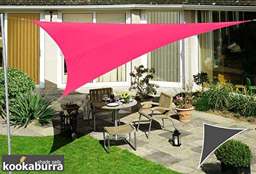 Kookaburra Voile d'Ombrage Imperméable 6,0m × 4,2m Triangle Rectangle Rose