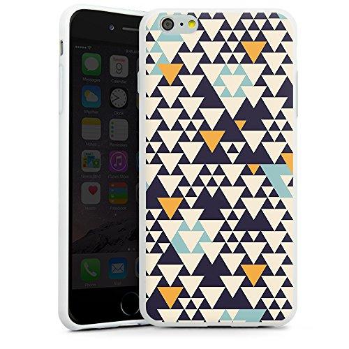 artboxONE Premium-Handyhülle iPhone 5/5S/SE Bodart Pattern I - Geometrie - Smartphone Case mit Kunstdruck hochwertiges Handycover kreatives Design Cover von Florent Bodart Silikon Case weiß
