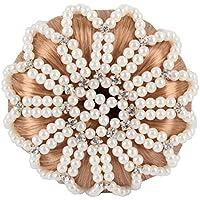 Horka Damen Haarnetz Deluxe, mit Perlen und Strasssteine