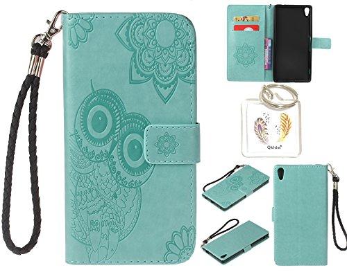 für Sony Xperia XA Ultra PU Leder Silikon Schutzhülle Handy case Book Style Portemonnaie Design für Sony Xperia XA Ultra + Schlüsselanhänger ( KLZ) (2) (Case Zwei Pocket Frauen)