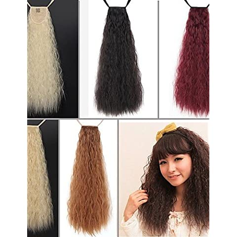 SONGYUNYANEccellente qualit?sintetico 24 pollici lunga Taro Curly Ribbon coda di cavallo parrucchino - 5 colori disponibili , dark brown