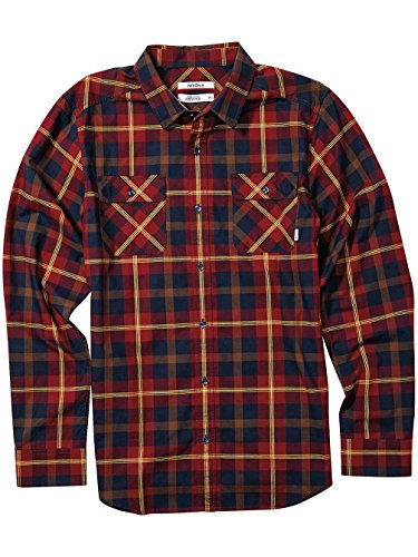 Herren Hemd lang Nixon Echo Shirt LS Navy