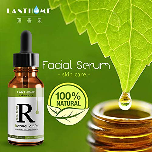 Cooljun Produit de soin de peau 10ml vitamine sérum liquide hydratant rides lissage acide hyaluronique Essence