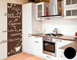 Wandtattoo-Tapete Kaffeesorten B x H: 64cm x 150cm Farbe: schwarz von Klebefieber®