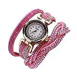 Relojes para Mujer - Rcool Joyería Mujeres Chapado en Cuarzo Pulsera Relojes con Crystals y Circonio Cúbico (rosa)