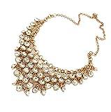 Dieses Atemberaubende Elegante Gold & Kristall Statement Halskette. Ideal den Alltag, Party oder für Hochzeiten und Proms nh9885