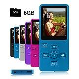 Crillutar Gemütlich 8GB MP3 / MP4-Player Musik / Media Player / Stimmaufnahme mit unabhängiger Sperrtaste und 1.8 Zoll Bildschirm, Inklusive einer 8 GB Micro SD-Karte, Unterstützung von Photo Viewer und E-Book (Blau)