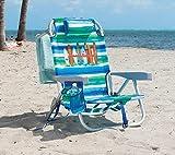 Tommy Bahama Silla de Playa Tipo Mochila Reclinan 5 Posiciones (Verde/Azul/Blanco)